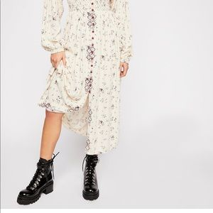 Free people Wildflowers Embroidered Maxi Dress